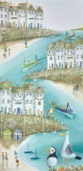 A Little Off Quay by Rebecca Lardner -  sized 12x24 inches. Available from Whitewall Galleries